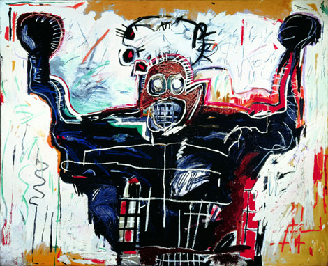 Jean-Michel Basquiat, Untitled (Boxer) oil on canvas, 1982