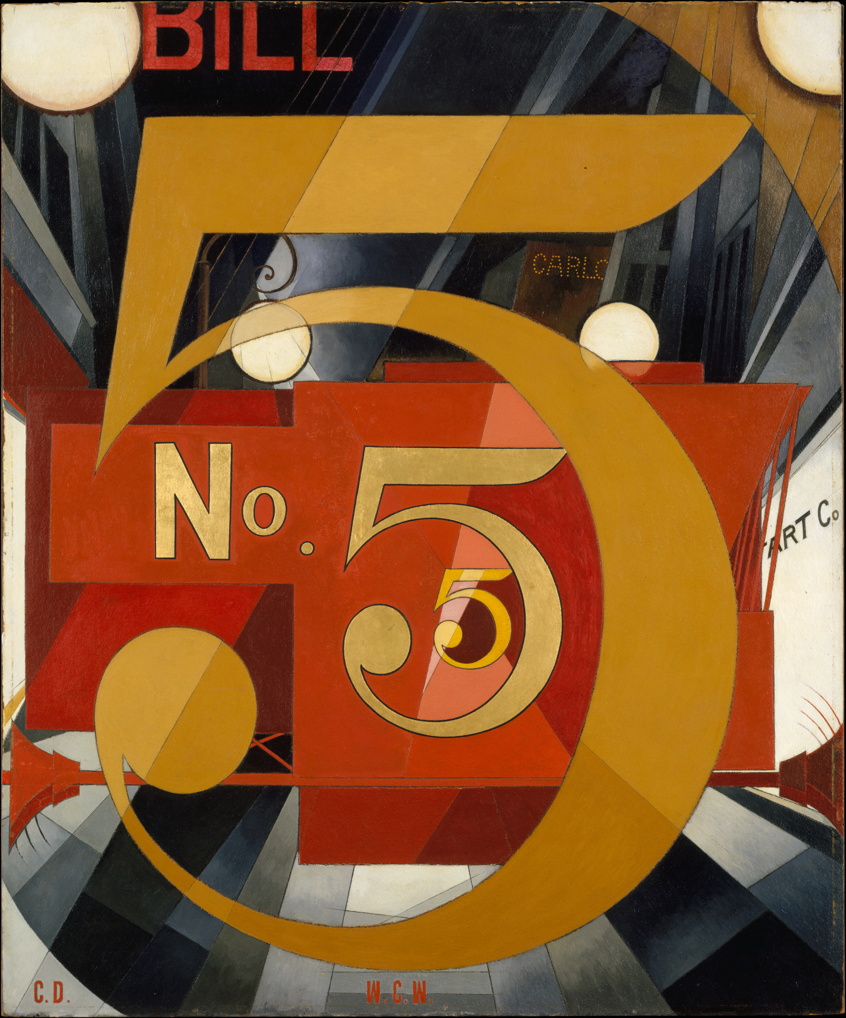 Charles Demuth Quot I Saw The Figure 5 In Gold Quot 1928